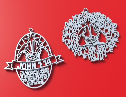 Free John 1:14 Christmas Ornament Files for 3D Printing.